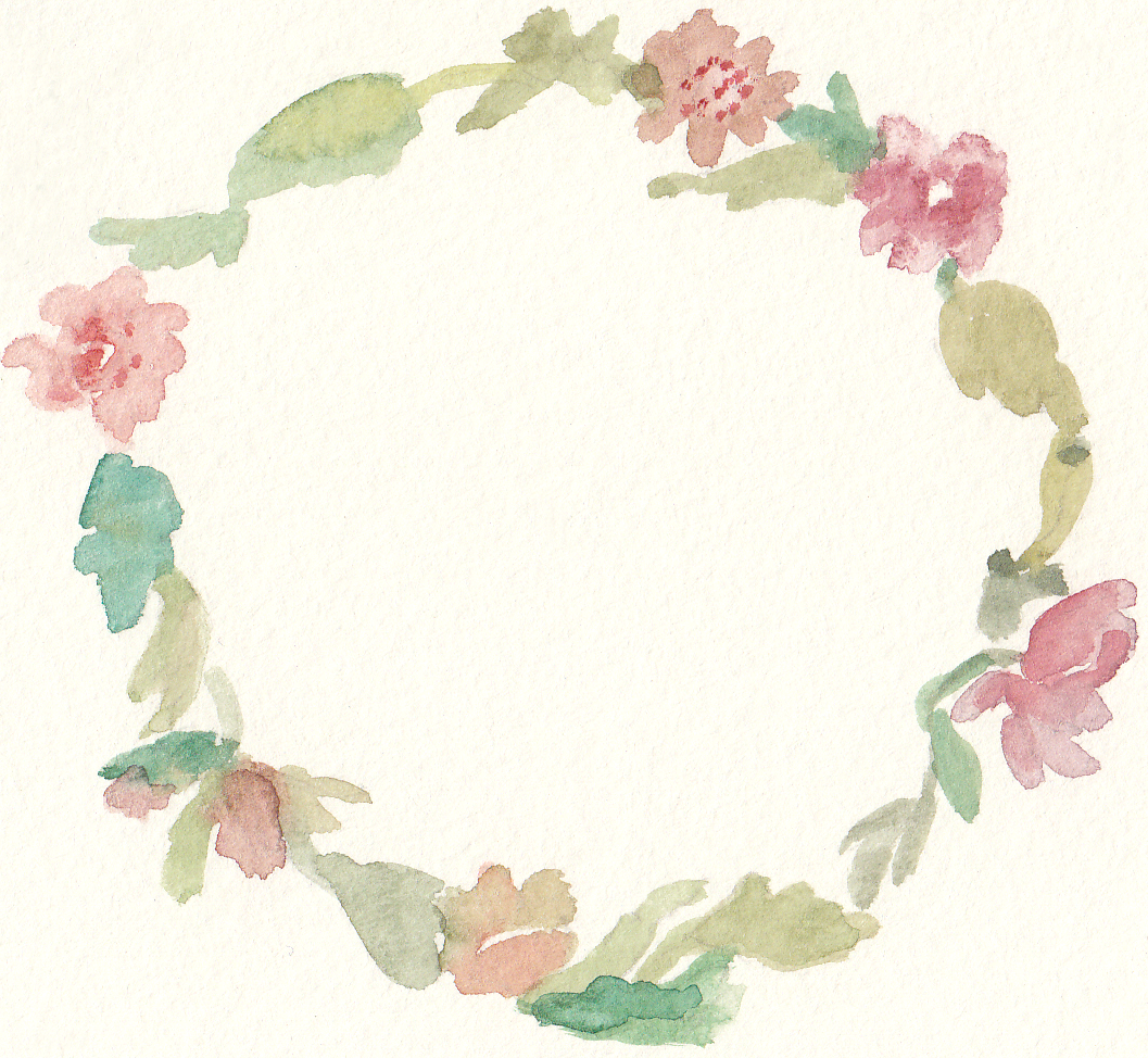 Wreath embellishment clipart graphic transparent stock Free Watercolor Floral Wreath Clip Art | Printables | Floral ... graphic transparent stock