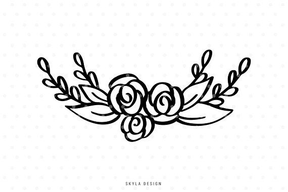Wreath embellishment clipart clip art download Floral svg cutfile flourish clipart for cricut and ... clip art download