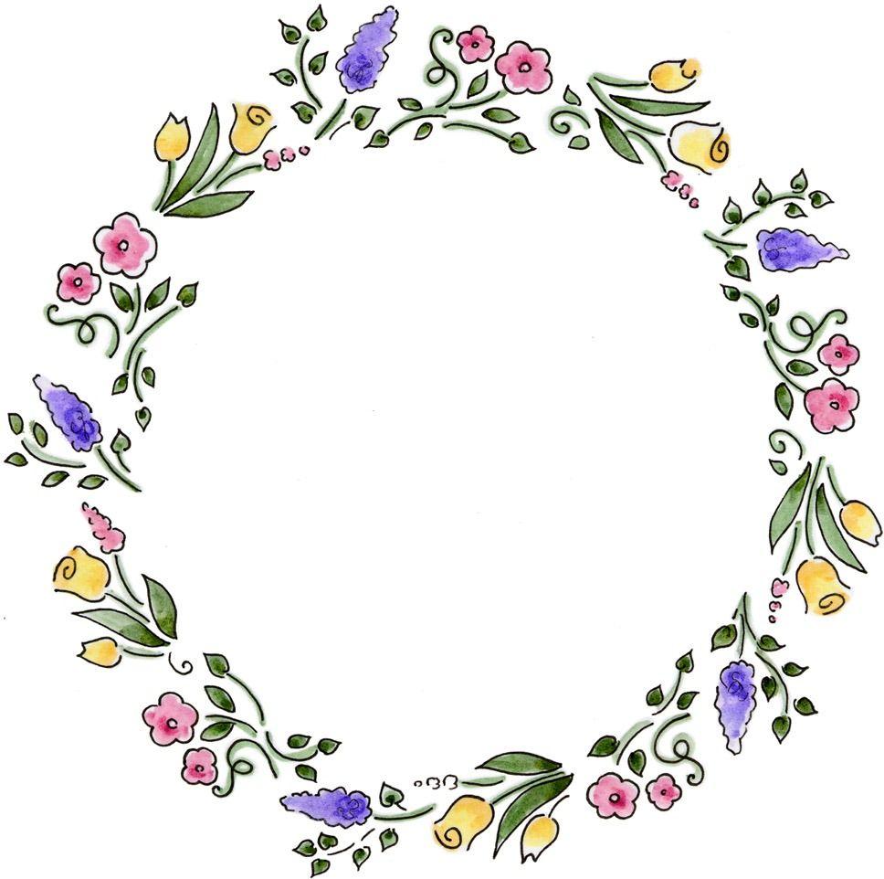Wreath frame clipart