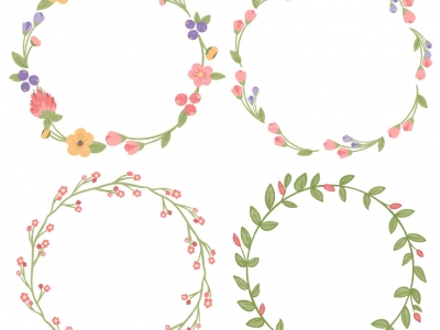 Wreath of flower clipart png clip transparent library Free Floral Wreath Vectors clip transparent library