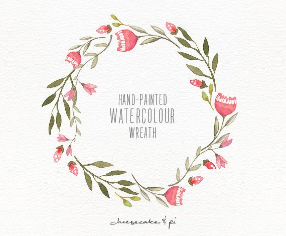 Wreath of flower clipart png clip art transparent library Watercolor wreath: 1 PNG floral wreath clipart / Wedding ... clip art transparent library