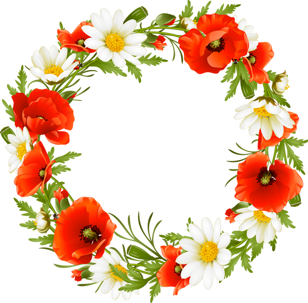 Wreath of flower clipart png vector royalty free Red flower wreath clipart - ClipartFest vector royalty free