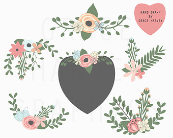 Wreath of flower clipart png image free stock Flower wreath png – Etsy image free stock