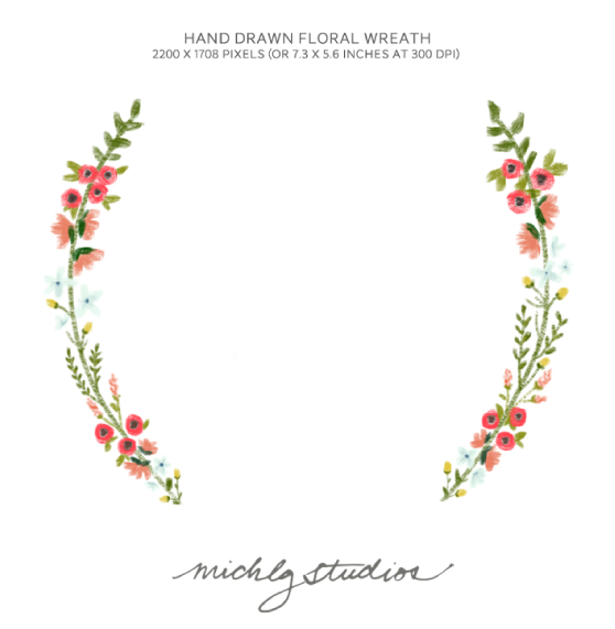 Wreath of flower clipart png