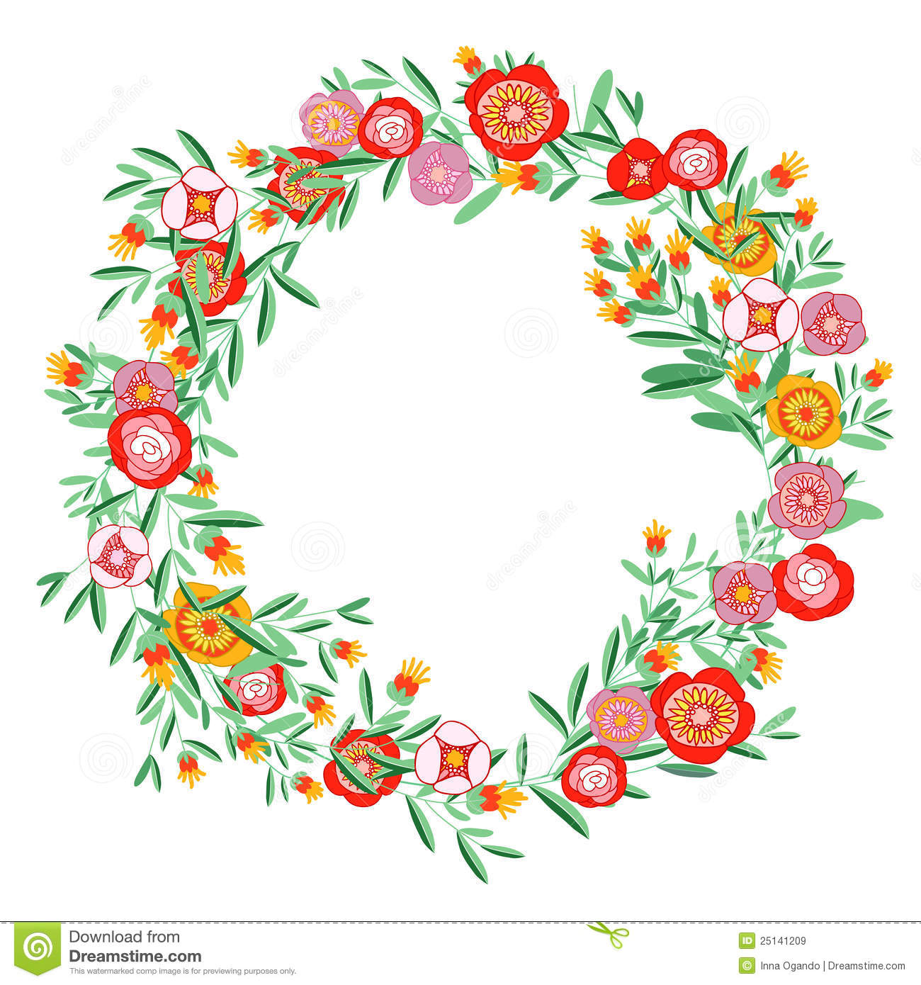 Wreath of flower clipart png image transparent stock Bright floral twig wreath clipart - ClipartFest image transparent stock
