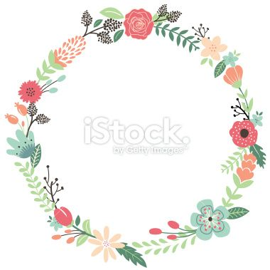 Wreath of flower clipart png image free library Vintage Flowers Wreath Royalty Free Stock Vector Art Illustration ... image free library