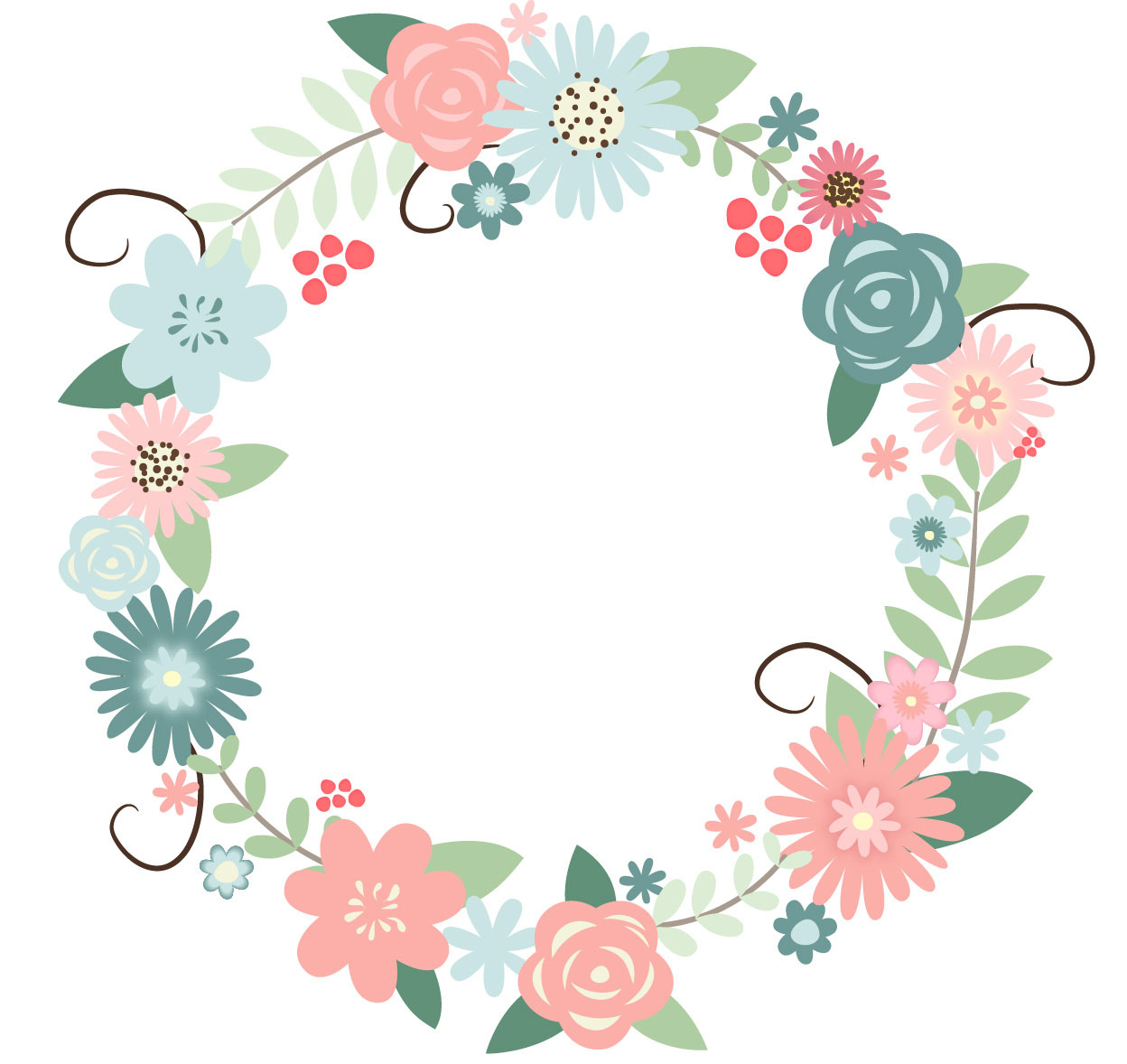 Wreath of flower clipart png image black and white Clipart wreath carnation flowers png - ClipartFest image black and white