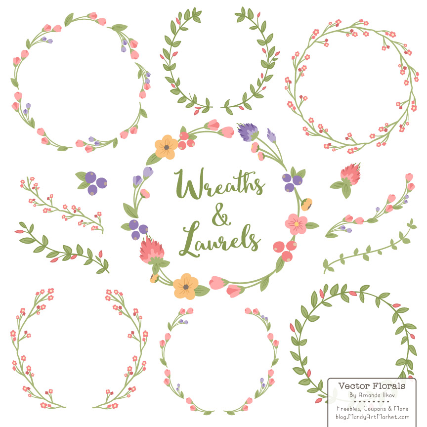 Wreath of flower clipart png black and white download Wreath of flower clipart png - ClipartFest black and white download