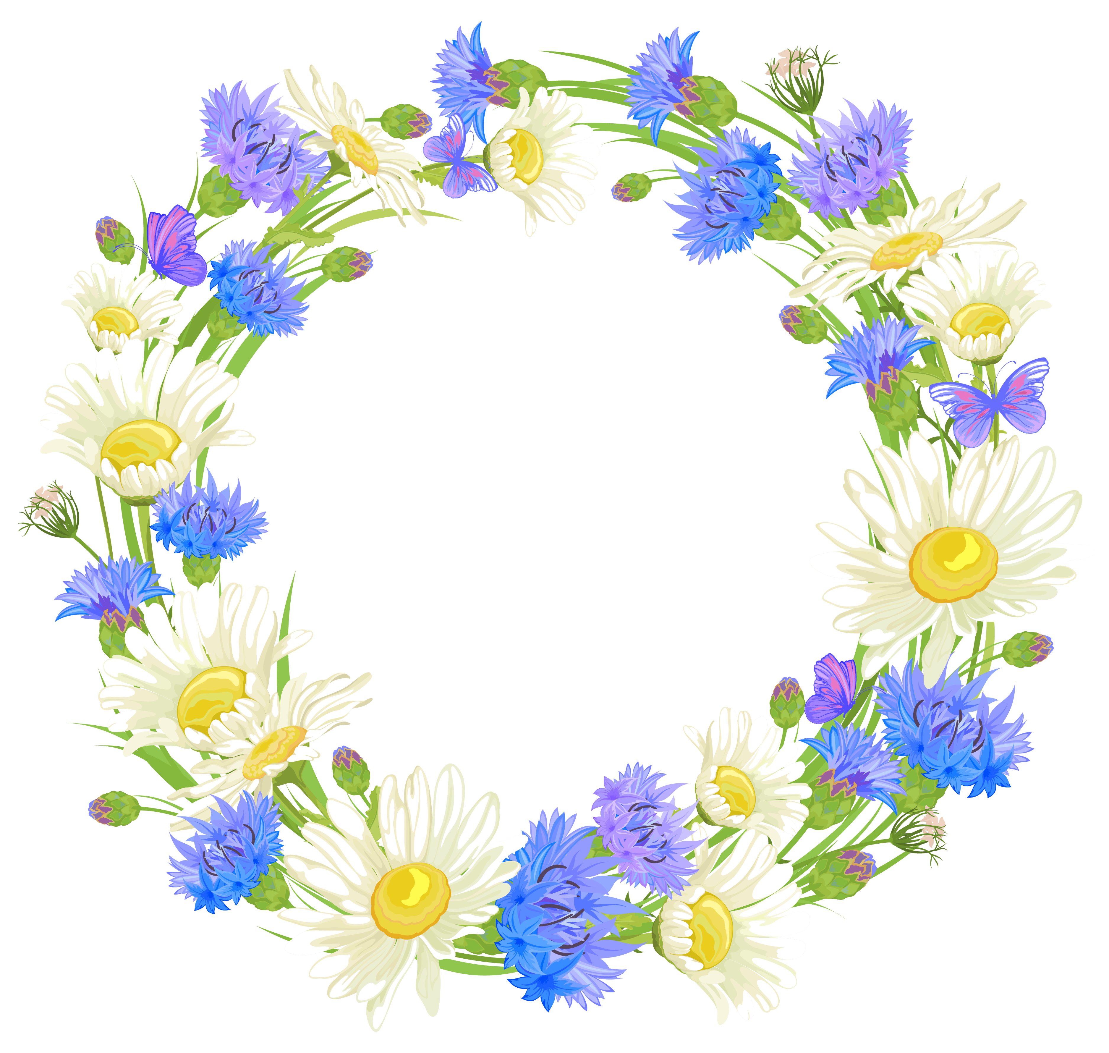 Flower wreath clipart png jpg freeuse stock Wreath of flower clipart - ClipartFest jpg freeuse stock