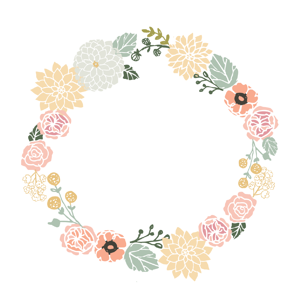 Wreath of flower clipart png clipart free library Floral Wreath - Single Card | Flower, Search and Design clipart free library