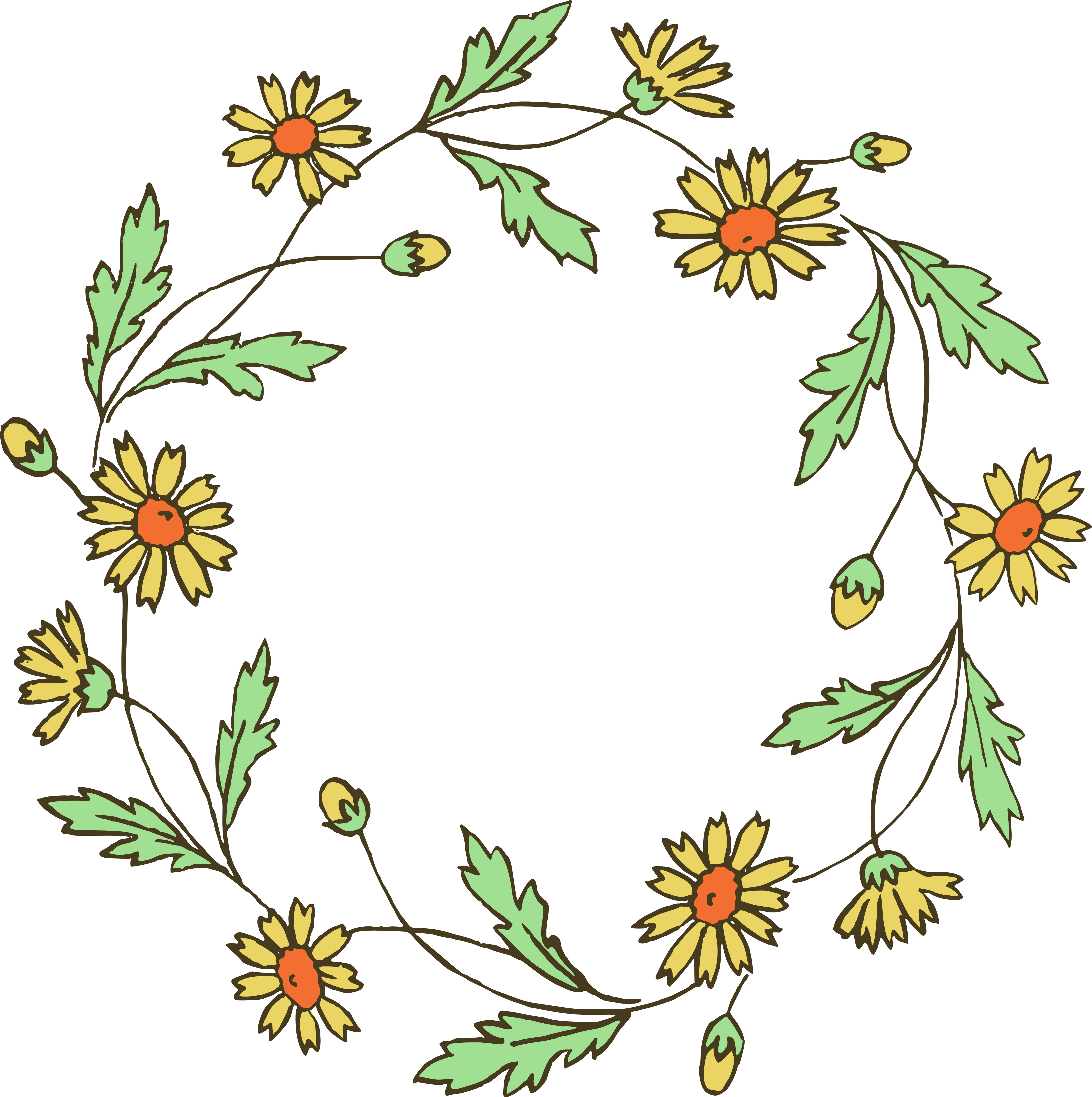 Wreath of flower clipart png image transparent download Wreath of flower clipart png - ClipartFox image transparent download
