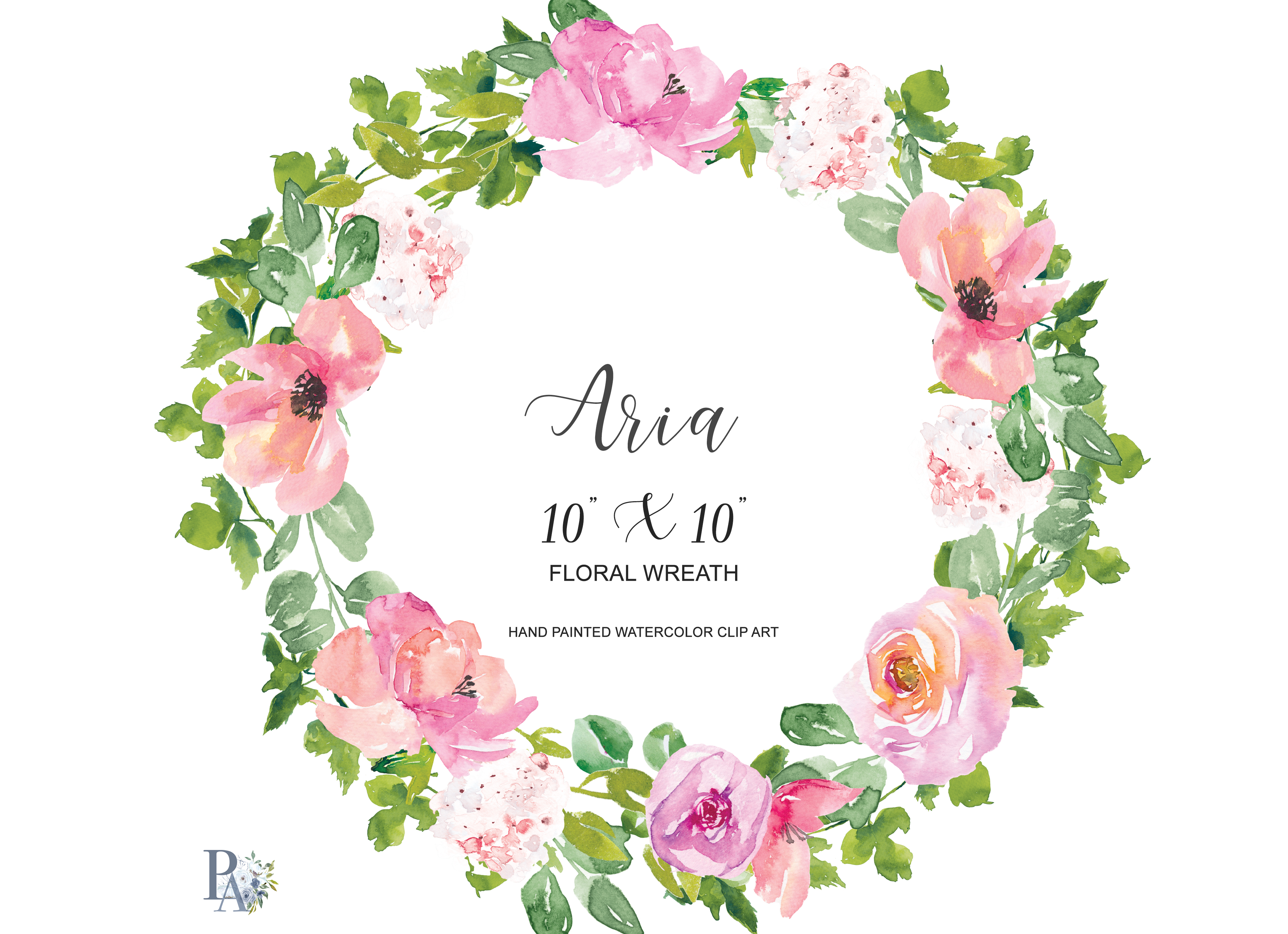 Wreath pictures clipart image royalty free stock Watercolor Blush Floral Wreath Clipart image royalty free stock