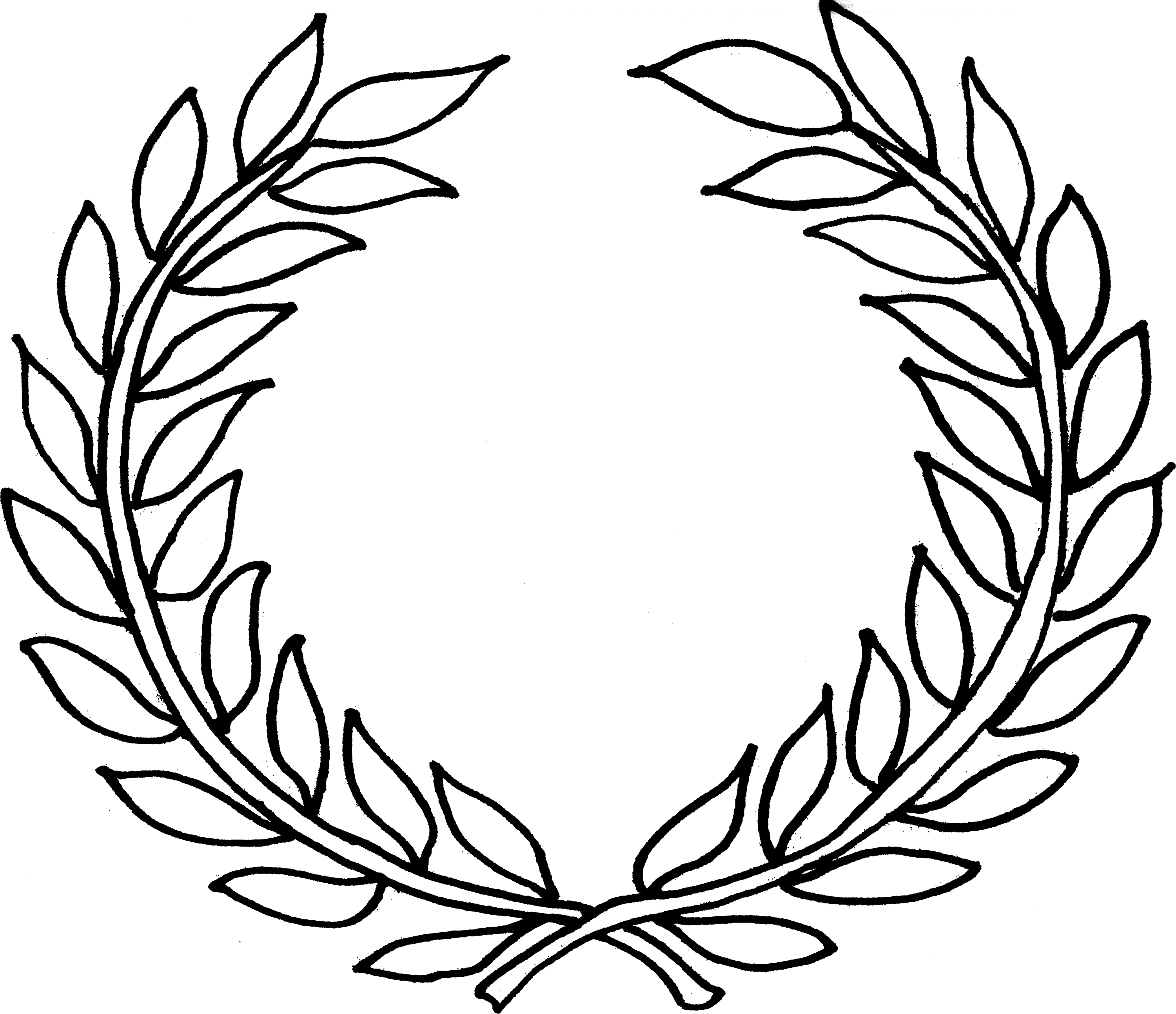 Wreath template leaves clipart clipart freeuse download Collection of Laurel wreath clipart | Free download best ... clipart freeuse download