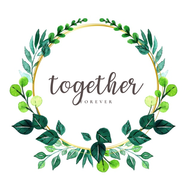 Wreath template leaves clipart png royalty free library Watercolor leaves wreath Vector | Free Download png royalty free library
