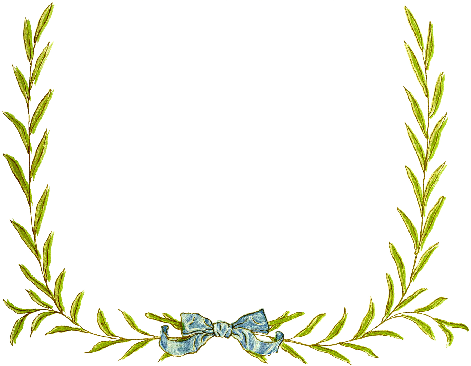 Wreath template leaves clipart png royalty free library 12 Christmas Wreath Frame Images - The Graphics Fairy png royalty free library