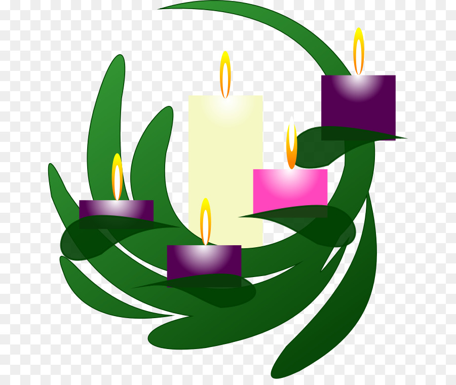 Wreath with candles clipart vector freeuse Purple Flower Wreath clipart - Candle, Wreath, Green ... vector freeuse