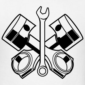 Wrench and engine clipart
