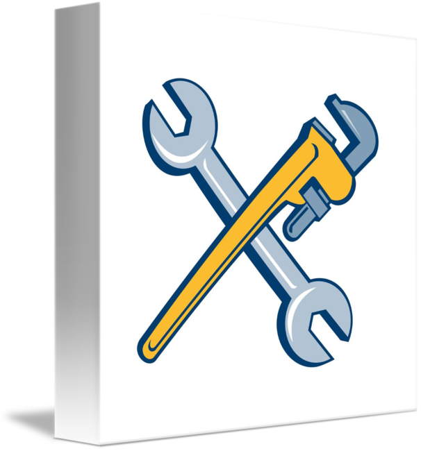 Wrench and engine clipart png transparent library HD Engine Clipart Crossed Wrench - Monkey Wrench Cartoon ... png transparent library