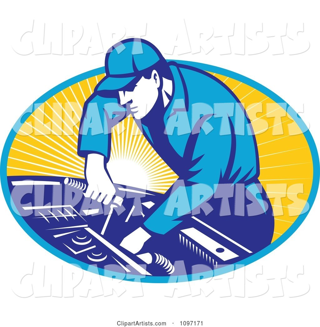 Wrench and engine clipart graphic royalty free Retro Automobile Mechanic Using A Socket Wrench On A Car ... graphic royalty free