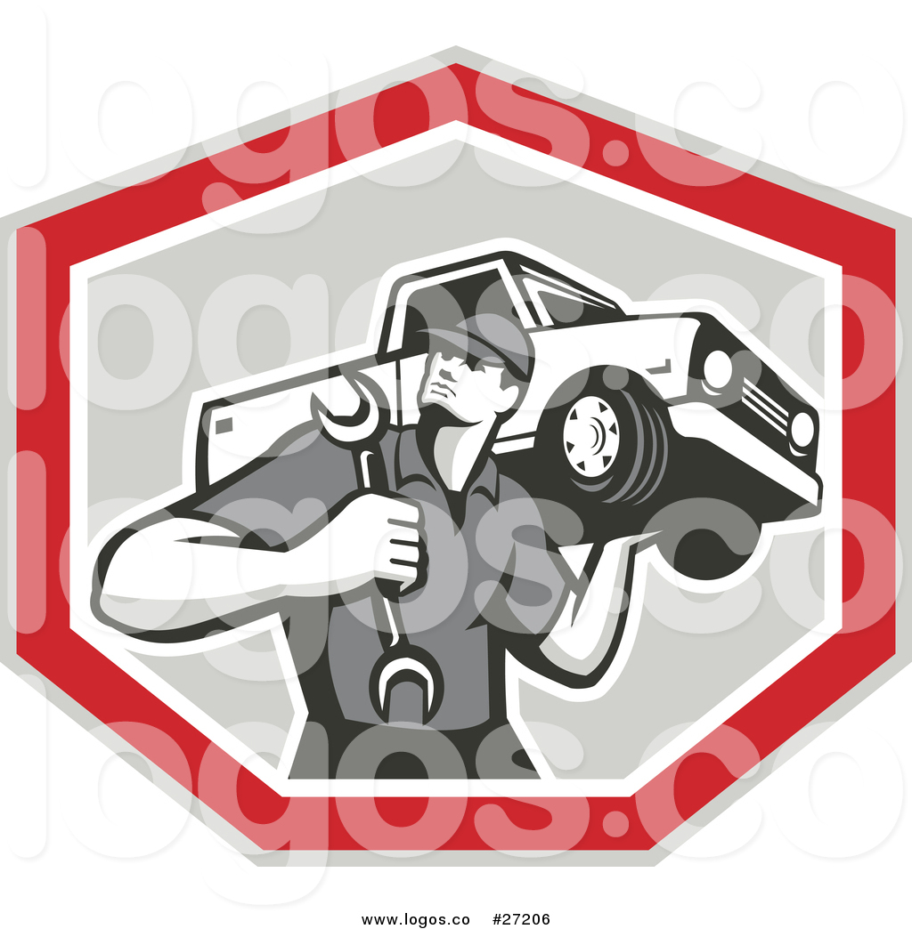 Wrench motor clipart no watermark clipart royalty free library Royalty Free Vector Logo of a Mechanic Carrying a Wrench and ... clipart royalty free library