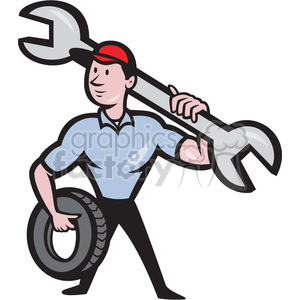 Wrench motor clipart no watermark picture black and white mechanic spanner tyre front clipart. Royalty-free clipart # 387897 picture black and white