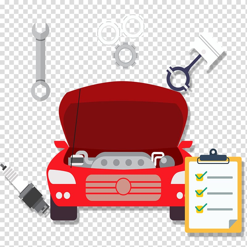 Wrench and engine clipart vector black and white library Car Motor Vehicle Service Automobile repair shop Maintenance ... vector black and white library