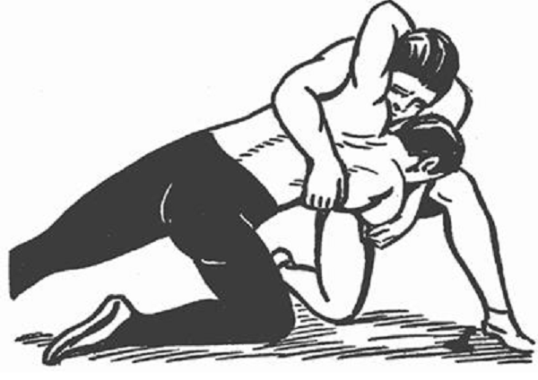 Wrestler pinning another wrestler black and white clipart free library Wrestling - Quick Guide - Tutorialspoint free library