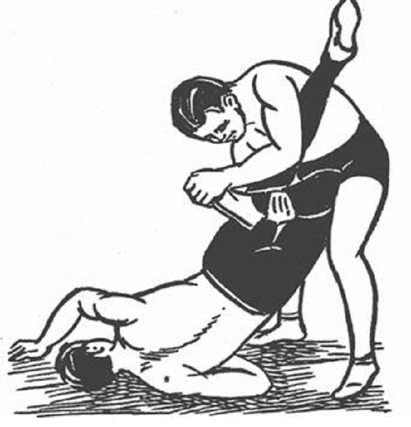 Wrestler pinning another wrestler black and white clipart banner library Wrestling - Quick Guide - Tutorialspoint banner library