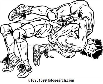 Wrestler pinning another wrestler black and white clipart jpg royalty free Wrestling Clip Art Black White | Clipart Panda - Free ... jpg royalty free