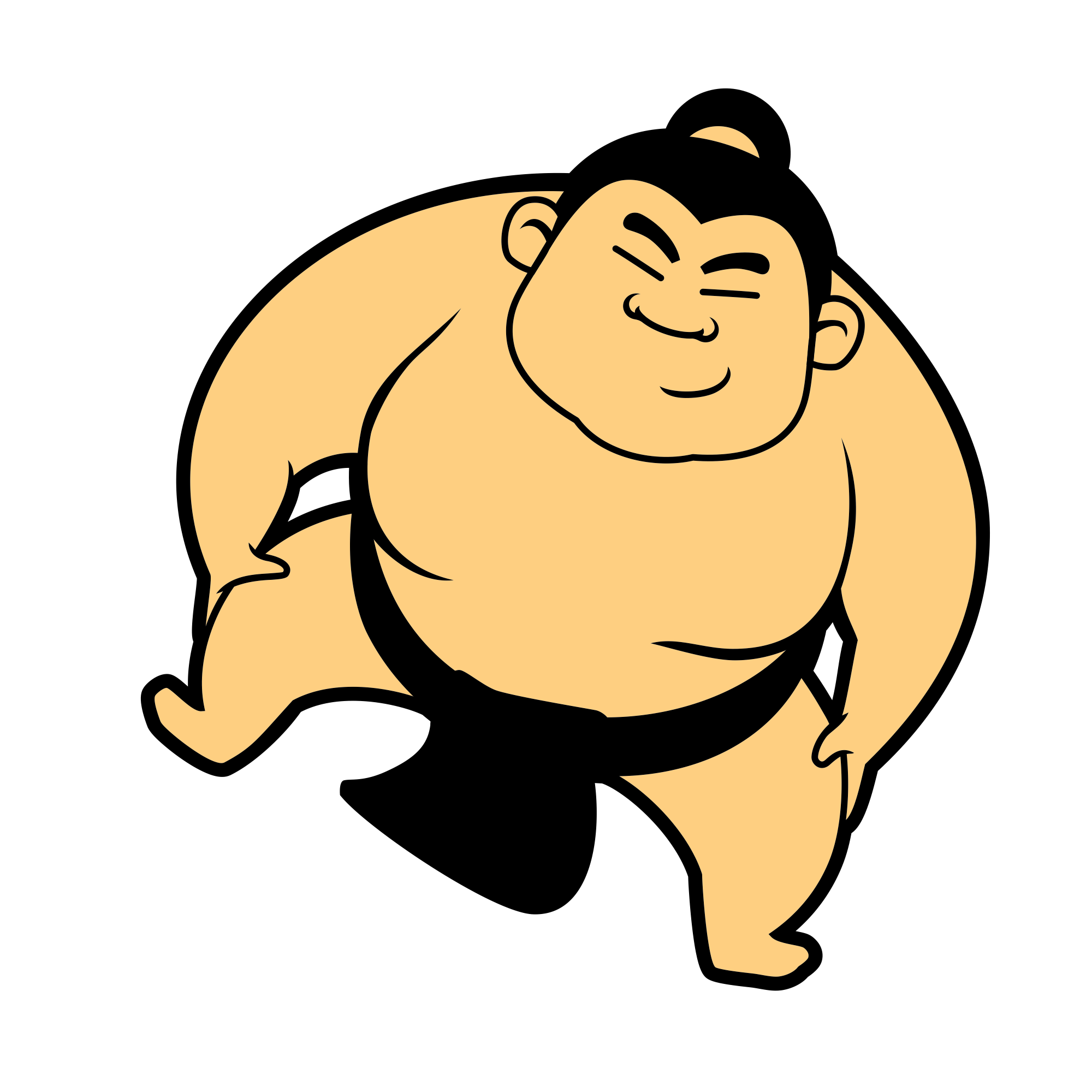Wrestlers squaring off clipart graphic free stock Sphero Sumo Wrestling graphic free stock
