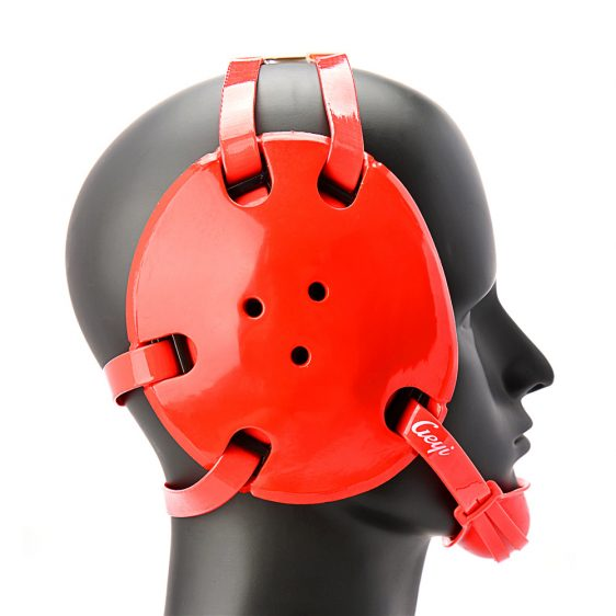 Geyi Red Wrestling Headgear with chin cup svg freeuse