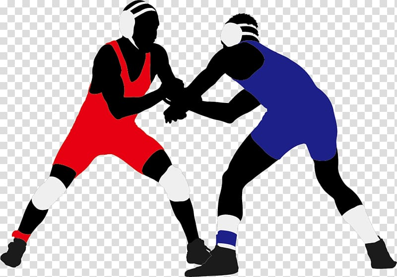 Wrestling clipart no background vector freeuse download Two man wearing blue and red art, Wrestling Silhouette ... vector freeuse download