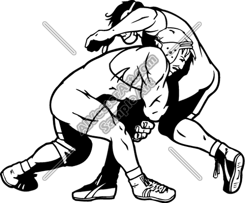 Wrestler front stance clipart jpg transparent library WRESTLING7 Clipart and Vectorart: Sports - Wrestling ... jpg transparent library