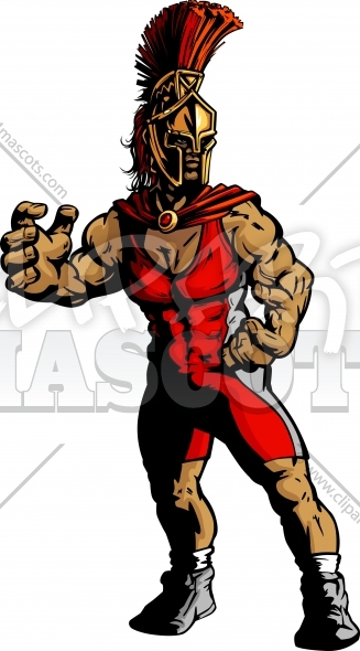Wrestling mascot clipart freeuse library Spartan Wrestling Clipart Graphic Vector Cartoon freeuse library