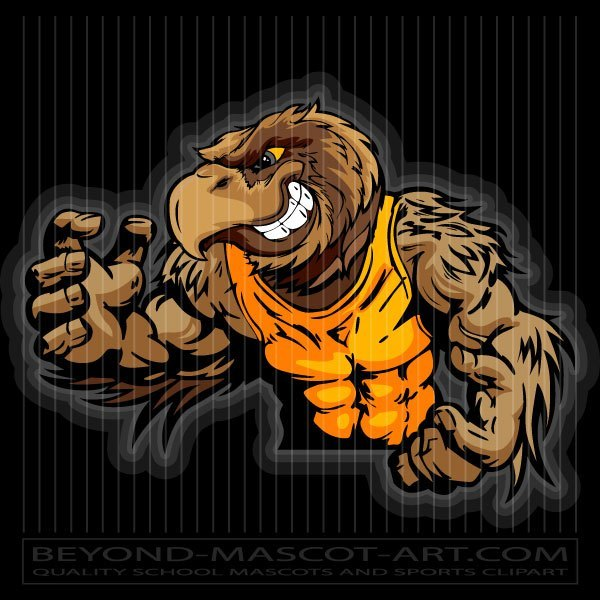 Wrestling mascot clipart graphic free library Wrestlig Hawk Clip Art graphic free library