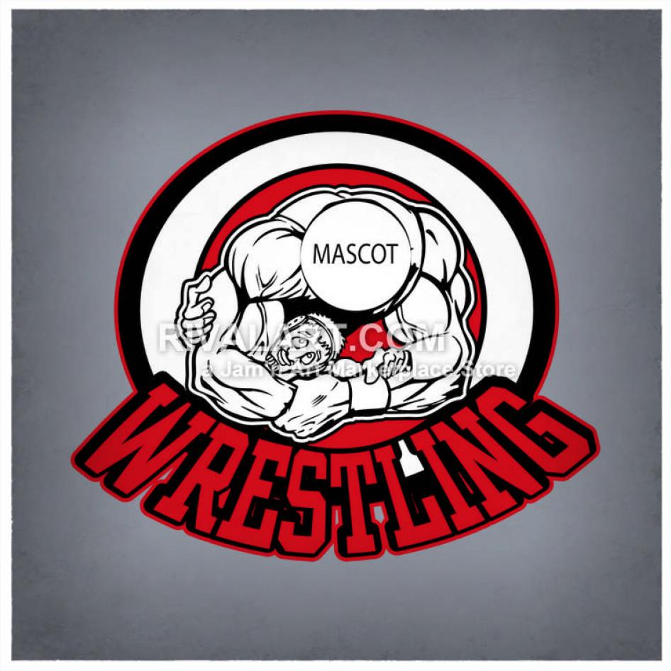 Wrestling mascot clipart vector library download Wrestling Wrestlers Graphic Logo Design Mascot vector library download