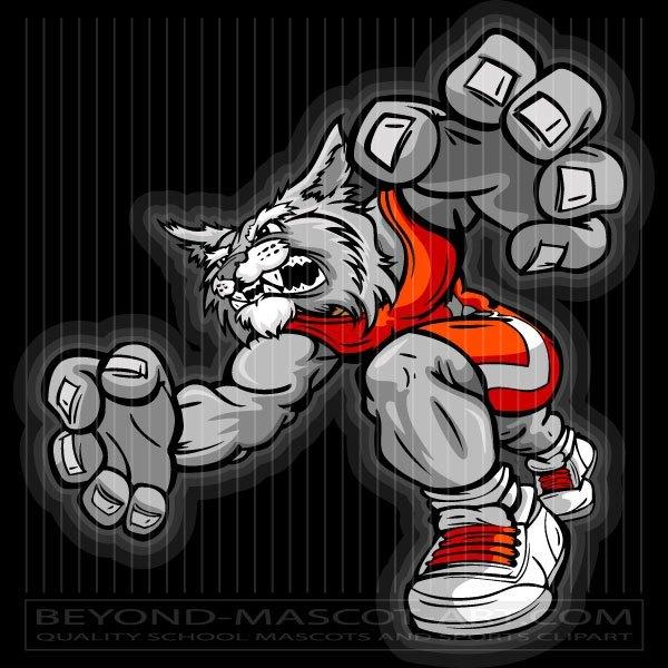 Wrestling mascot clipart svg black and white Wildcat Wrestling Clip Art svg black and white