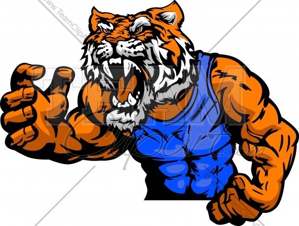 Wrestling mascot clipart banner freeuse stock Tiger Wrestling Mascot Body Vector Cartoon Clipart Image ... banner freeuse stock