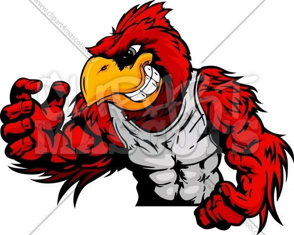 Wrestling mascot clipart clipart freeuse library Cardinal Wrestling Graphic Vector Logo clipart freeuse library