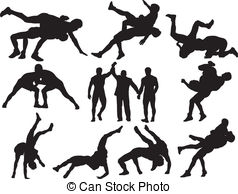 Wrestling vector clipart free vector transparent library Wrestling Clipart and Stock Illustrations. 5,402 Wrestling ... vector transparent library