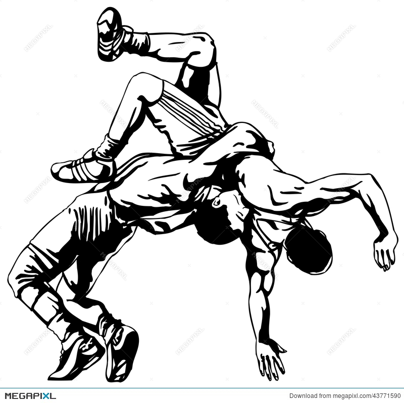 Wrestling vector clipart free jpg freeuse stock High School Wrestling Clipart   Free download best High ... jpg freeuse stock