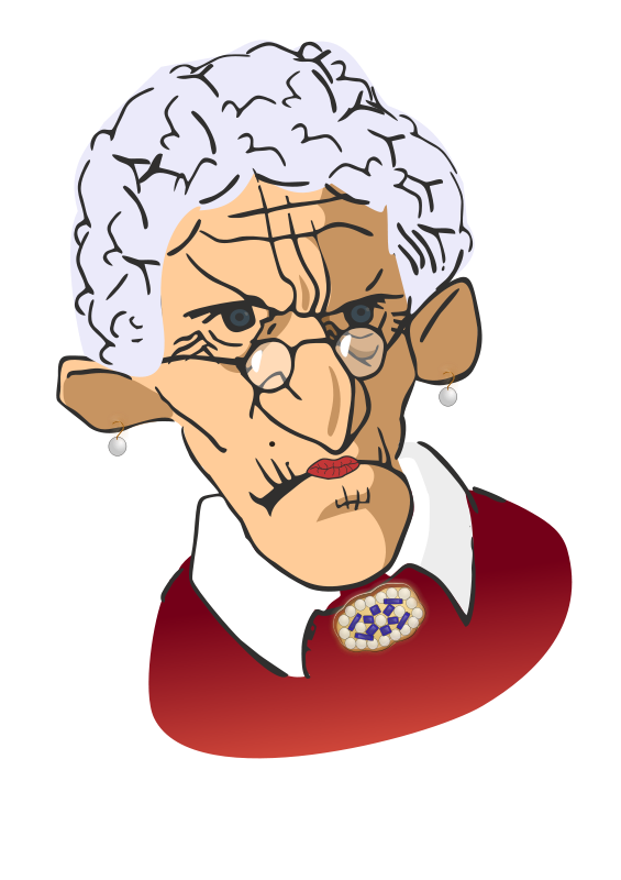 Wrinkle clipart picture library download Free Clipart: Wrinkled woman | Moini picture library download