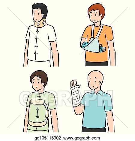 Wrist cast clipart picture transparent EPS Illustration - Vector set of orthopedic cast. Vector ... picture transparent