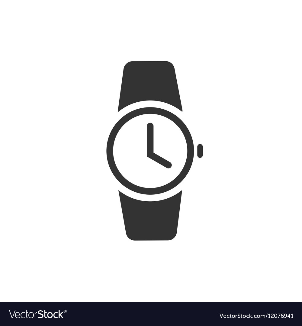 Wrist watch vector clipart banner freeuse library Watch icon black wristwatch banner freeuse library
