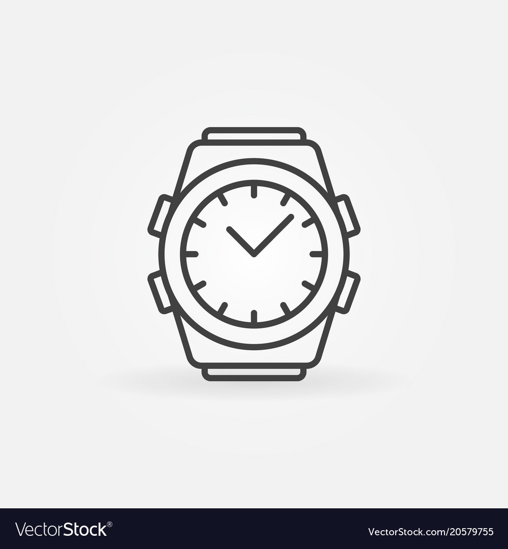 Wrist watch vector clipart svg royalty free stock Watch outline icon wrist watch line svg royalty free stock