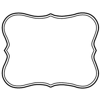 Write off paper black & white clipart jpg royalty free download Amazon.com: Write On Deli Tag With Scroll Design White Heat ... jpg royalty free download