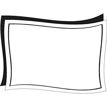 Write off paper black & white clipart png freeuse stock Amazon.com: Deli Tag Write on Style with Black Wave Design ... png freeuse stock
