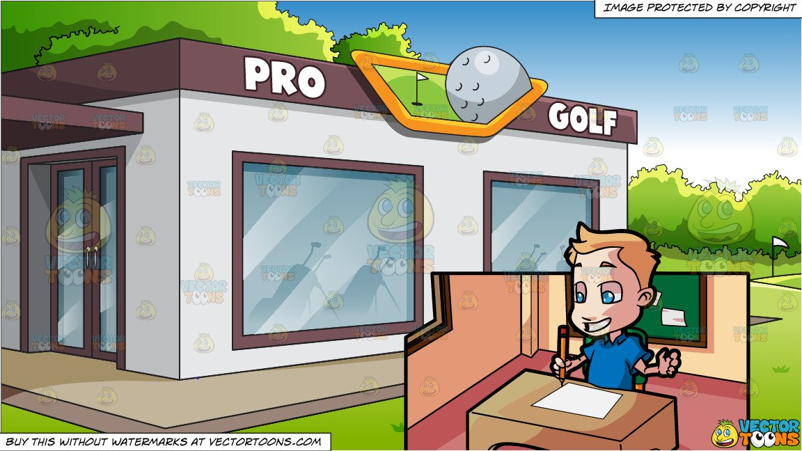 Write shop clipart picture transparent download A Kindergarten Boy Excited To Write Down Something On Paper and A Country  Club Golf Shop Background picture transparent download