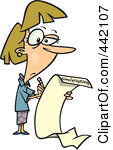 Writing a list clipart picture freeuse Clipart of a Cartoon Man Writing a Long New Years Resolutions List ... picture freeuse