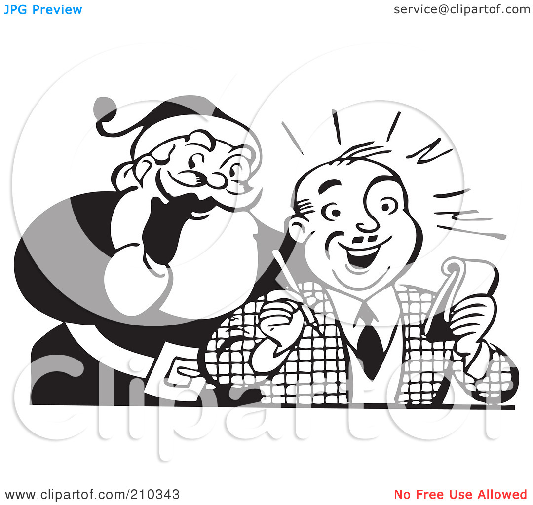 Writing a list clipart png black and white library Royalty-Free (RF) Clipart Illustration of a Retro Black And White ... png black and white library